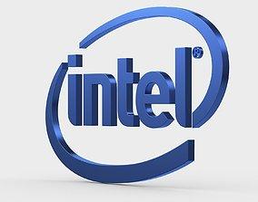3D model intel logo