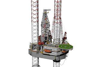 Jack up rig 3D