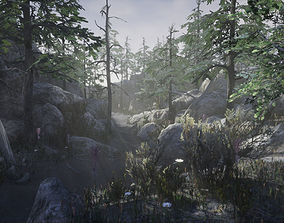 3D model Mountain Forest Pack