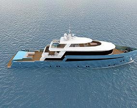 3D asset Concept Motor Yacht Umbra