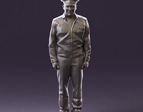 man in russian army blue uniform 1110 3D Print Ready