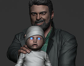 3D printable model Karl Urban - Butcher and baby