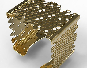 3D printable model Square Bracelet Hive elegant