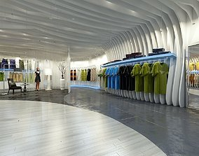 shopping Clothing Store Interior 3D