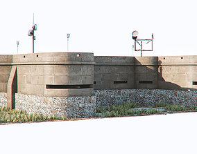 abandoned 3D model bunker