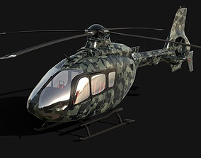 VR / AR ready Military Version of Eurocopter EC 135 3D