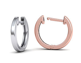 Delicate Fine Hoop Earrings 3d model
