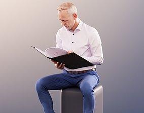 3D 11384 Jason - Sitting Business Man Reading his File 1