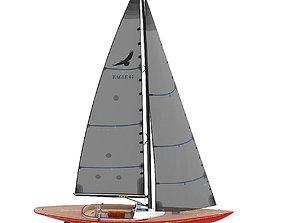 Leonardo yachts Eagle 44 RED vessel 3D model