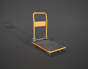 3D model Folding Platform Truck - Trolley - Orange