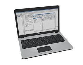 3D model low-poly Laptop