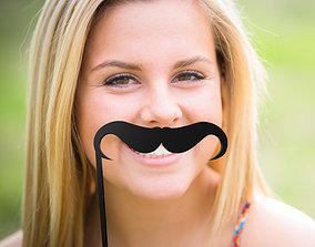 3D print model sprag Mustache Mustache Stick