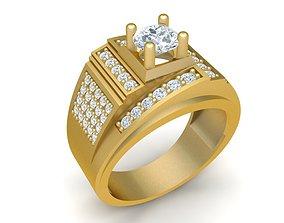 2078 Diamond Men Ring 3D print model