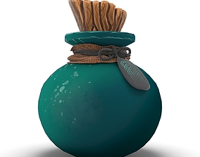 Alchemy Fantasy Potion Bottle 3D asset
