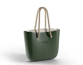 O bag in Bordeaux with Rope Handles 3D
