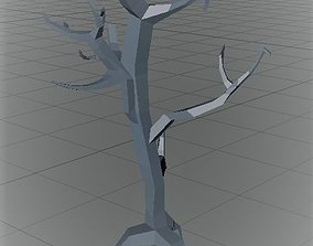 Low poly dry tree 3D printable model