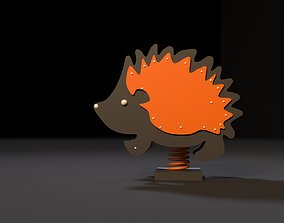Attraction rocking hedgehog 3D model