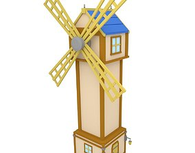 3D model Wind Mill Low Poly