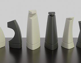 3d Printable Modern Chess Set STL OBJ 3MF