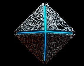 3D asset Diamond Spaceship Midpoly