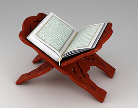 Holy Quran Book with Holder 3D