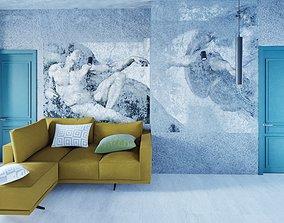 living room 3D model realtime living-room