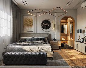 3D model Bedroom-modern