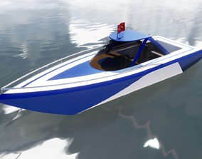 BOAT MODEL game-ready