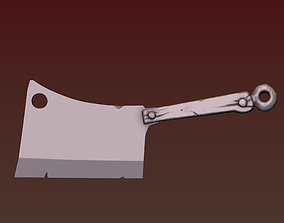 Butcher Ax 3D printable model backsword