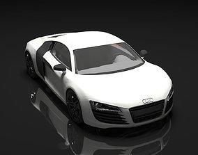 Audi R8 white 3D