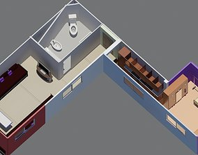 3D architectural splatter House