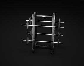 Barbell Rack 3D model legs