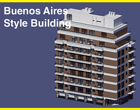3D Buenos Aires Style Building 8