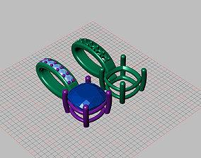 Cushion Stone pendant 3D printable model