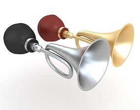 3D Vintage car air horn