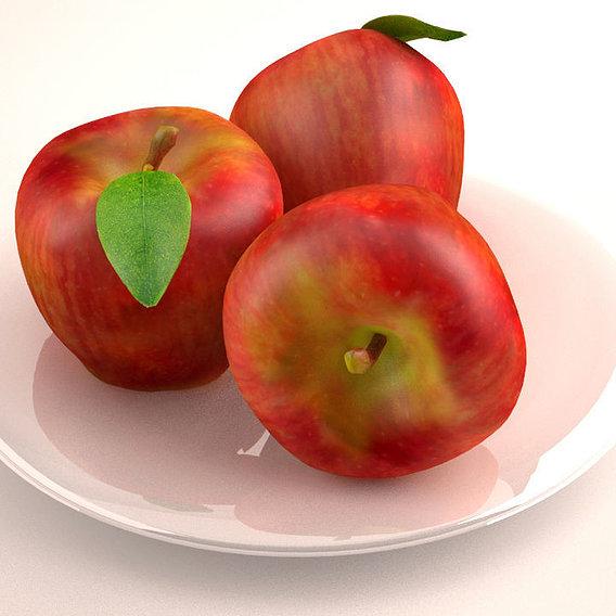 Apples plate