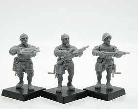 3D print model Landsknecht crossbowmen