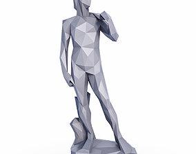 3D model David Sculpture Low Poly