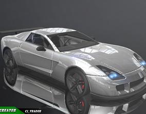 Lowpoly Super Racing Car Concept 3D Model VR / AR ready