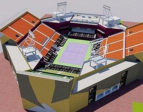3D model Khalifa International Tennis - Doha Qatar