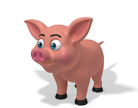 Pig cartoon agriculture 3D model