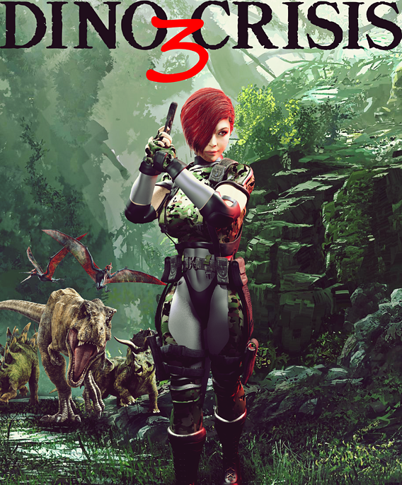 dino crisis 3  cover page fan (art)