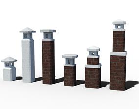 BF Chimney 3D game-ready