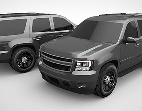 SUV Chevy Tahoe Lowpoly 3D model