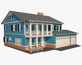 Traditional House 14 3D asset realtime