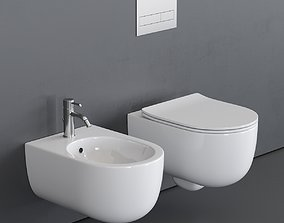 Olympia Ceramica Milady Wall-Hung WC 3D asset