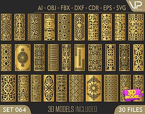 30 3D Decorative wall panels - screen SET 064