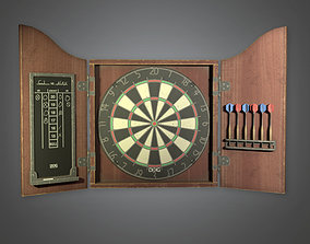 DVB - Bar Dartboard - PBR Game Ready 3D asset