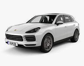 3D model Porsche Cayenne S with HQ interior 2017