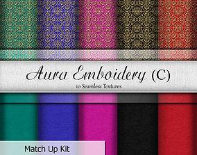 Aura Embroidery C Seamless Textures Set 3D